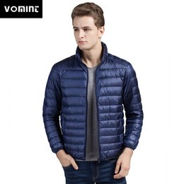 24fec3910fe14 VOMINT New Autumn Winter Men s Duck Down Jacket Ultra Light Thin Plus Size  Spring Jackets Men Stand Collar Outerwear Coat M-4XL