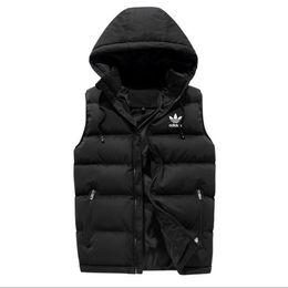 Men vests printed online shopping - Luxury Men outer wear winter waistcoat down vest feather designer jackets casual vests coat mens down coats