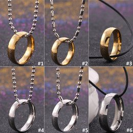Ring Slides Australia - European And American Necklaces Lord Of The Rings Necklace Sweater Chain Magic Ring Pendants Men's And Women's Necklace Alloy Necklace D0242