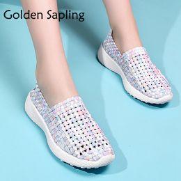 b884b51ea92 Golden Sapling Ladies Running Shoes for Women Sneakers White Mesh  Breathable Shoes Woman Sport Sneakers Women 2018 Female Shoe