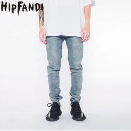 mens clubbing clothes 2019 - HIPFANDI Newest Ankle Zipper Jumpsuit Jeans Mens Designer Clothes Clothing Club Fashion Singer Justin Bieber Fog Skinny