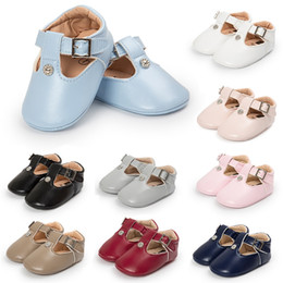 9 Color Girls Baby PU Leather Rivet Flats Dress Shoes Sandals soft sole prewalker free shipping from korean half slip manufacturers