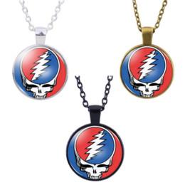 Grateful Dead Necklace colgante, Cabochon Glass Accessories Creative DIY Unisex Jewelry Gifts en venta