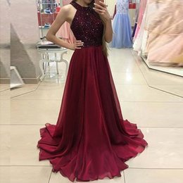 Red Maxi Backless Dress NZ - 2018 Fashion Elegant Long maxi Dresses Sequined Summer Dress women Sexy Halter Backless Mesh Black Red Party Dress Noir Vestidos