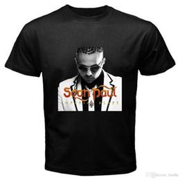 Großhandel T-Shirts bestellen Neu Sean Paul Reggae Hip Hop Album Musik Herren Schwarz T-Shirt Größe S bis 3XL Kurzarm Oansatz T-Shirt für mich