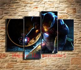 Civil war art prints online shopping - Captain America Civil War Iron Man Pieces Home Decor HD Printed Modern Art Painting on Canvas Unframed Framed
