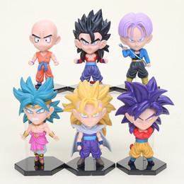 $enCountryForm.capitalKeyWord Australia - 6pcs set Dragon Ball Z action figure toy Son Goku Super Saiyan Krillin Trunks Broli Broly Gohan PVC figure model brinquedos