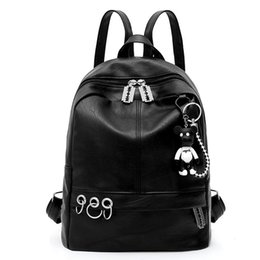 cell phone hanging pocket NZ - Women backpack wholesale casual pure color female bags fashion violent bear hanging bag girl will very likelike