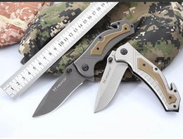 $enCountryForm.capitalKeyWord NZ - HILWOD K8021 Tactical Folding Knife Outdoor Camping Survival Rescue Pocket Knife With 3Cr13 Blade G10 Handle High Quality And Low Price
