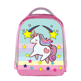 c521d41ac7 Factory Wholesale Girls Small Kindergarten School Backpacks for Kids Lovely  Pink Unicorn Colored Printing School Bags