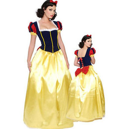Adult Long Dresses UK - Plus Size 6XL Adult Snow White Costume Carnival Halloween Costumes for Women Fairy Tale Princess Cosplay Female Long Dress sexy