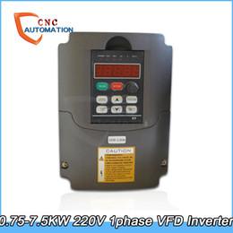 Inverter Controller NZ - VFD 0.75KW 1.5KW 2.2KW 3KW 4KW 5.5KW 7.5KW 3HP Inverter 220V Converter 0V to 220VAC Variable Inverter Drive utput CNC Spindle motor New