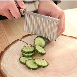$enCountryForm.capitalKeyWord Australia - Fashion Potato Wavy Knife Stainless Steel Plastic Handle Kitchen Gadget Vegetable Fruit Cutting Peeler Cooking Tool Kitchen Accessories