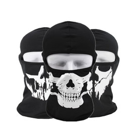 Motorcycle skull windproof online shopping - Halloween Gost Skull Mask Motorcycle Hood Full Face Mask Face Mask Windproof Dustproof Neck Scarf Headwear Sport Helmet Snood