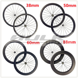 $enCountryForm.capitalKeyWord Canada - carbon fiber 38mm 700c clincher matte finish carbon wheels with black powerway R13 hub for road bike use wheelset