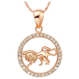China Rare 12 Zodiac Aries Taurus Gemini Cancer Leo Virgo Libra Scorpius Sagittarus Capricornus Aquarius Pisces Pendant Gold Necklace suppliers