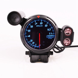 $enCountryForm.capitalKeyWord Australia - 80mm 3.75 Inch DEFI BF Style Racing Gauge Car RPM Gauge Blue Light LED Tachometer Sensor
