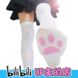 claw game NZ - New Game high quality Lolita cat claw 120D Knee socks Printed velvet Lycra stockings