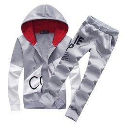 SweatSuit men online shopping - Brand Sporting Suit Men Warm Hooded Tracksuit Track Polo Men s Sweat Suits Set Letter Print Large Size Sweatsuit Male XL