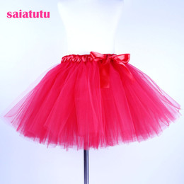 red white blue tutus Australia - 2018 NEW red tulle kids children toddler baby costume ball gown party dance wedding short pettiskirt fashion tutu girl skirt
