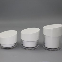 acrylic cosmetic jar white 2018 - 20g,30g 50g Acrylic Cream Jar,White Bevel Cap,Empty Cosmetic Packing Container,Double Wall,Travel refillable Sample Tins