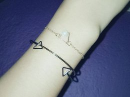 Bohemian Products Wholesale NZ - European and American products, super space, short cut hollow triangle square geometric opening bracelet bracelet, female sales volume.