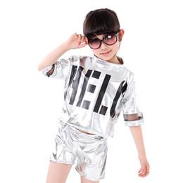 351eb6d6f1 10pcs lot Children Boys Girls Hip Hop Dance Clothing Kids Stage Competition  Ballroom Jazz Costume Dancing Wear