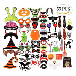 Discount paper stuffing - Halloween Decoration Prop Photo Props 22pcs 59pcs 62pcs Scary stuff party photo Decoration