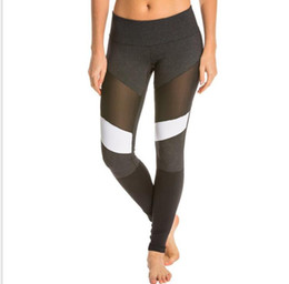 tight sexy yoga pants 2019 - Women Professional Gym Sports Yoga Pants Fitness Running Jogging Yoga Tights Sexy Mesh Patchwork Breathable Sportwear PA
