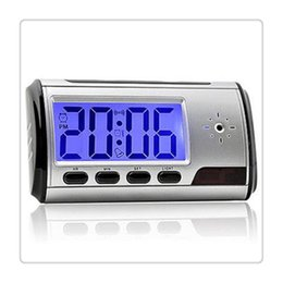 remote for clock camera Canada - Camera Clock HD Digital Alarm Clock Motion Detector Sound Recorder Digital Video PC with Remote Control for security Hot Sale
