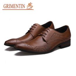 $enCountryForm.capitalKeyWord Australia - GRIMENTIN Hot Sale Brand New Mens Shoes Fashion Genuine Leather Men Oxford Shoes Italian Designer Formal Business Wedding Mens Dress Shoes