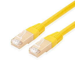 Vente en gros Cat7 Ethernet RJ45 Câble de réseau Câble LAN 10 Gigabit HD Transmission Câble Ethernet blindé en cuivre pur pour routeur portable