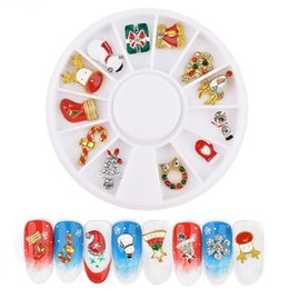 Christmas Gift Nails Australia - Nail Art Decoration Christmas Alloy Ornament In Wheel Snowflake Snowman Shoes Cap 3D Charm Nail Decoration For Gift