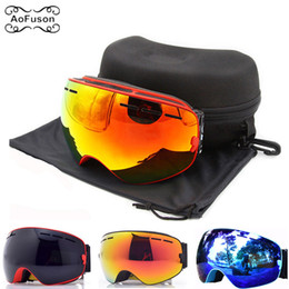 da9fa3c7337 Brand Ski Goggles . Snowboard Eyewear Double Layers Anti-fog Lens Large  Spherical Mask Snow Snowmobile Glasses Original Case C18110301