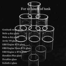 $enCountryForm.capitalKeyWord Australia - Genitank mega Melo 4 d22 d25 Arctic V8 OBS Engine 2 RTA Nano Herakles Plus Goliath II Tank Atomizer Replacement Pyrex Glass Tube DHL