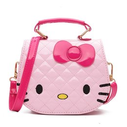 df5745ddc Hello kitty Handbag online shopping - New Children Cartoon Hello Kitty  Bowknot Handbag Girls Cute Shoulder