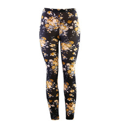 2a1c7684cc Yesello Verano Mujeres Leggings Impresión Fitness Leggins Material de la  Piel Suave Mujer Pantalones Pantalones Florales de Impresión Digital  Stretch Pants