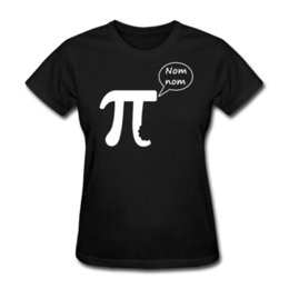Discount pi day shirt Women's Tee Pi Day Nom Nom Women's T-shirt Short Sleeve Round Collar Cotton T Shirts Novelty Printed Summer Co