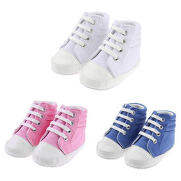 $enCountryForm.capitalKeyWord Australia - Baby Shoes Boys Girl High Top Shoe Infant Newborn Casual Canvas Prewalker Children Booties Kids Boots Lace-up Baby girl Sneaker
