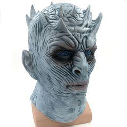 Venta al por mayor de Película caliente Juego genial de tronos Máscara de Halloween King's Walker de la noche NOCHE RE Zombie Máscara de látex Adultos Cosplay Trono Disfraz Fiesta Máscara