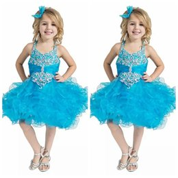 $enCountryForm.capitalKeyWord NZ - 2019 Custom Toddler Pageant Cupcake Dress Baby Girls Short National Glitz Tutu Infant Formal Wear Birthday Dresses