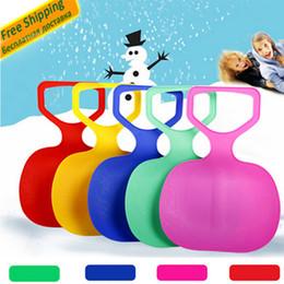 Mounchain Adulte Enfants Épaissir Plastique Ski adulte Pad de Ski Enfants Neige herbe sable traîneau Luge pour les sports d'hiver SCI equiment