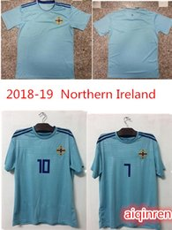 9cd6ae33f 2018 Northern Ireland Soccer Jerseys 8 DAVIC 10 K.LAFFERTY 5 J.EVANS 17  McNAIR Custom Home Away Green Blue White Football Shirts SIZE S-XXL  supplier ireland ...