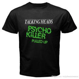 Shirt Killers NZ - Awesome Shirts Short New Talking Heads Psycho Killer Rock Band Mens Black T-Shirt Size S to 3XL Men Top O-Neck T Shirt
