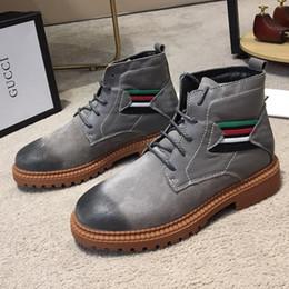 87eb3c9f6 Boots Men Canada - High Top Martin Boots with Origin Box Mens Shoes Luxury  Stivali da