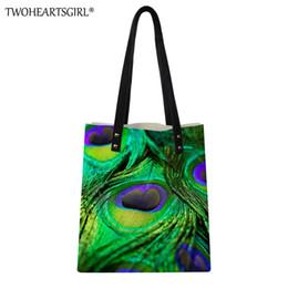 e661bc2b7c78 TWOHEARTSGIRL Women 3D Peacock Printing PU Handbag Lightweight Lady Style  Candy Color Travel Tote Bag Female National Beach Bags
