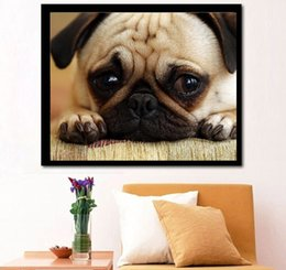 $enCountryForm.capitalKeyWord NZ - Home decoration painting 5DDIY cross embroidery sad puppy pug diamond painting living room room special purpose