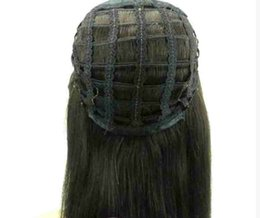 Chinese  Human Hair Half head Wigs falls 3 4 wig straight Virgin remy Human Hair Non Lace Wigs for african american 4 colors manufacturers