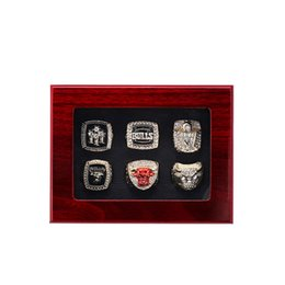 2018 The Newest 1991 1992 1993 1996 1997 1998 Bulls Basketball Championship anello Fan Regalo all'ingrosso Trasporto di Goccia US TAGLIA 11 # in Offerta