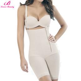 0c90266a78b47 Lover Beauty 2018 New Women Zipper Body Shaper Booty Lifter Sexy Slimming  Shapewear Lingerie Fat Burning Bodysuit Pants Slim XL